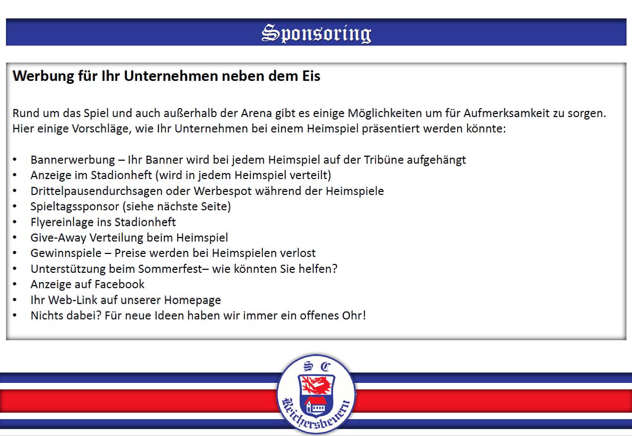 SC Reichersbeuern Eishockey - Sponsoringprofil   Sponsoo